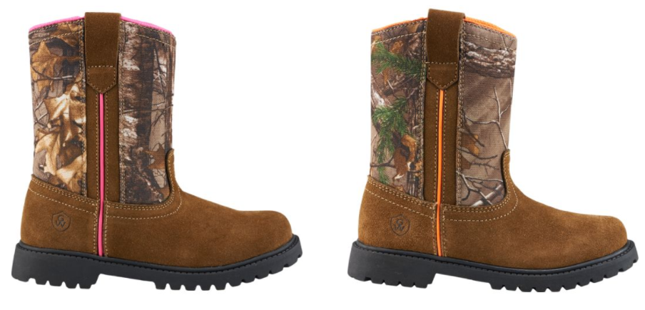 Get Kids' Game Winner Camo Boots for just $12.99 shipped!