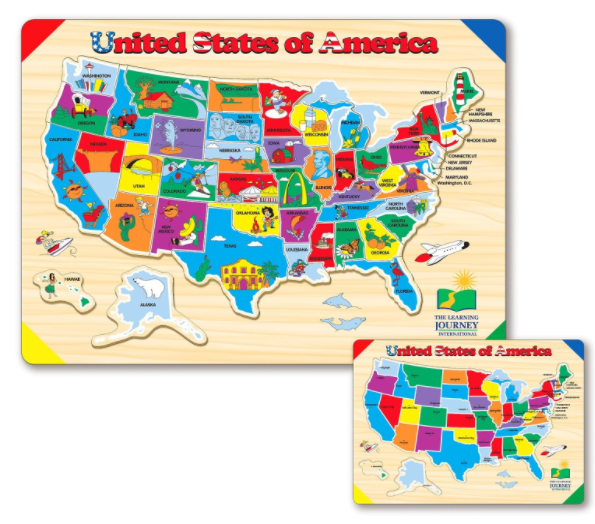 Amazon.com: The Learning Journey Lift & Learn USA Map Puzzle for just $6.33!