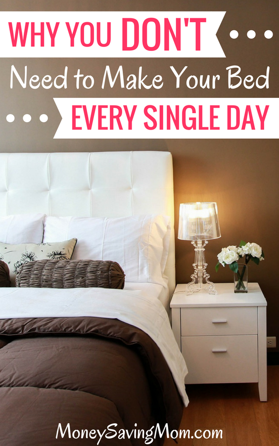 You don't need to make your bed every day to be successful, and here's why...