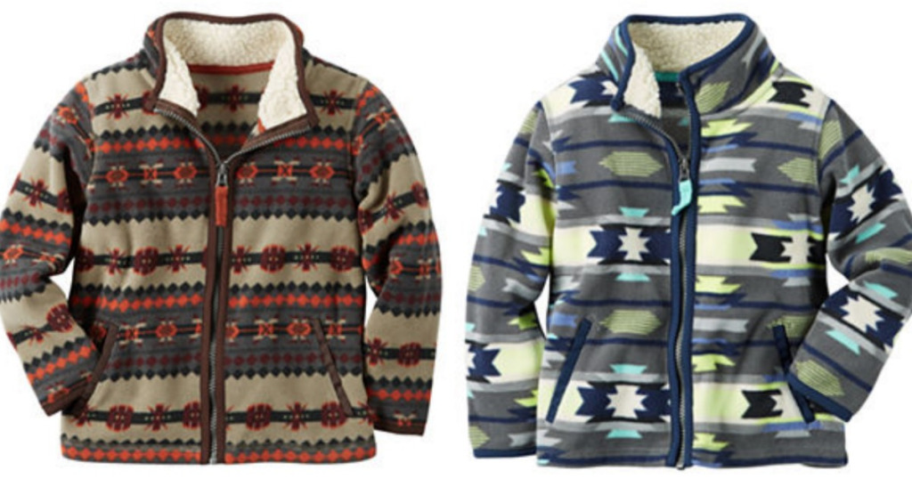 JCPenney: Boys Carter's Fleece Jackets only $7.49 – Today Only!