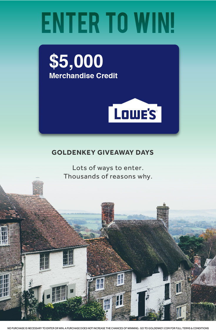 Save 3% on the purchase of your next home + enter to win a $5,000 home renovation from Lowe's!
