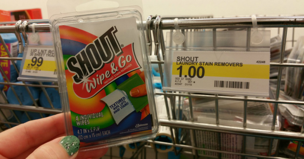 Target: Free Shout Travel Size Wipes