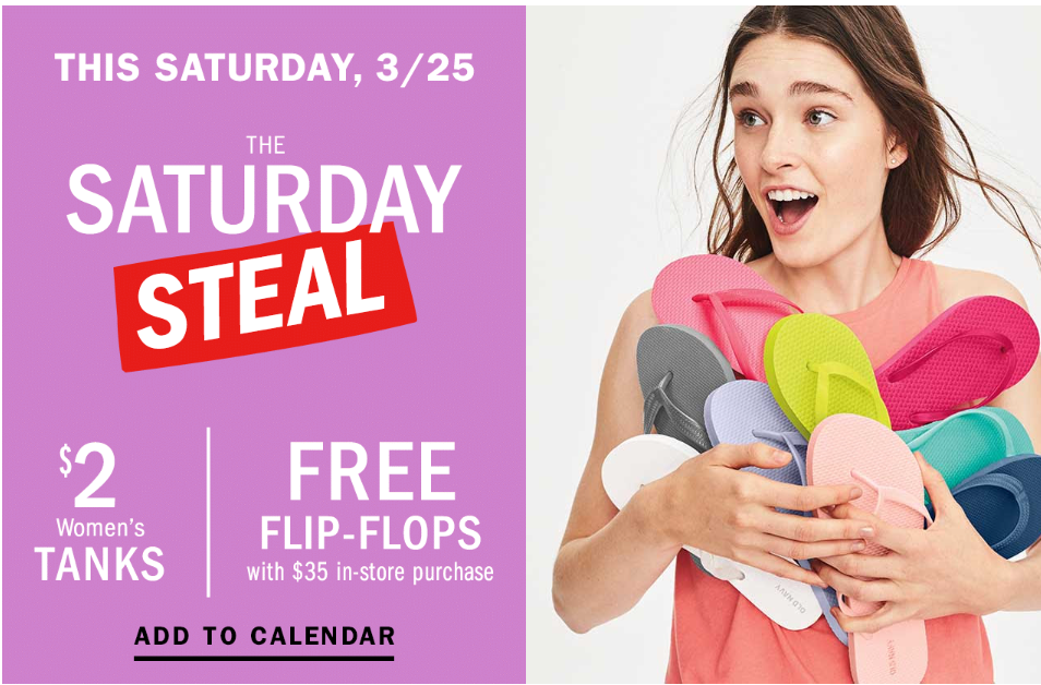 Old Navy: Women's Tanks only $2 {today only}!