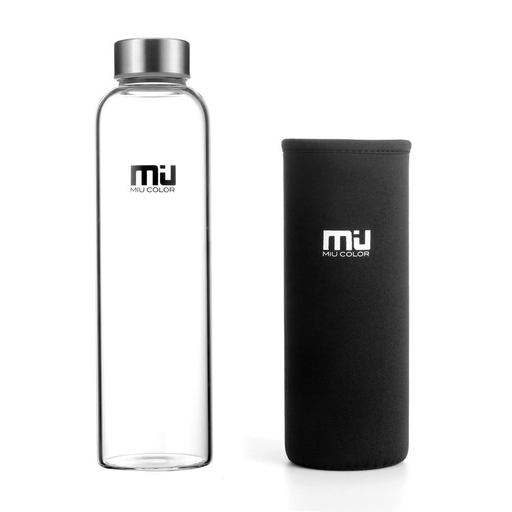 Amazon.com: MIU COLOR Borosilicate Glass Water Bottle with sleeve just $7.99!