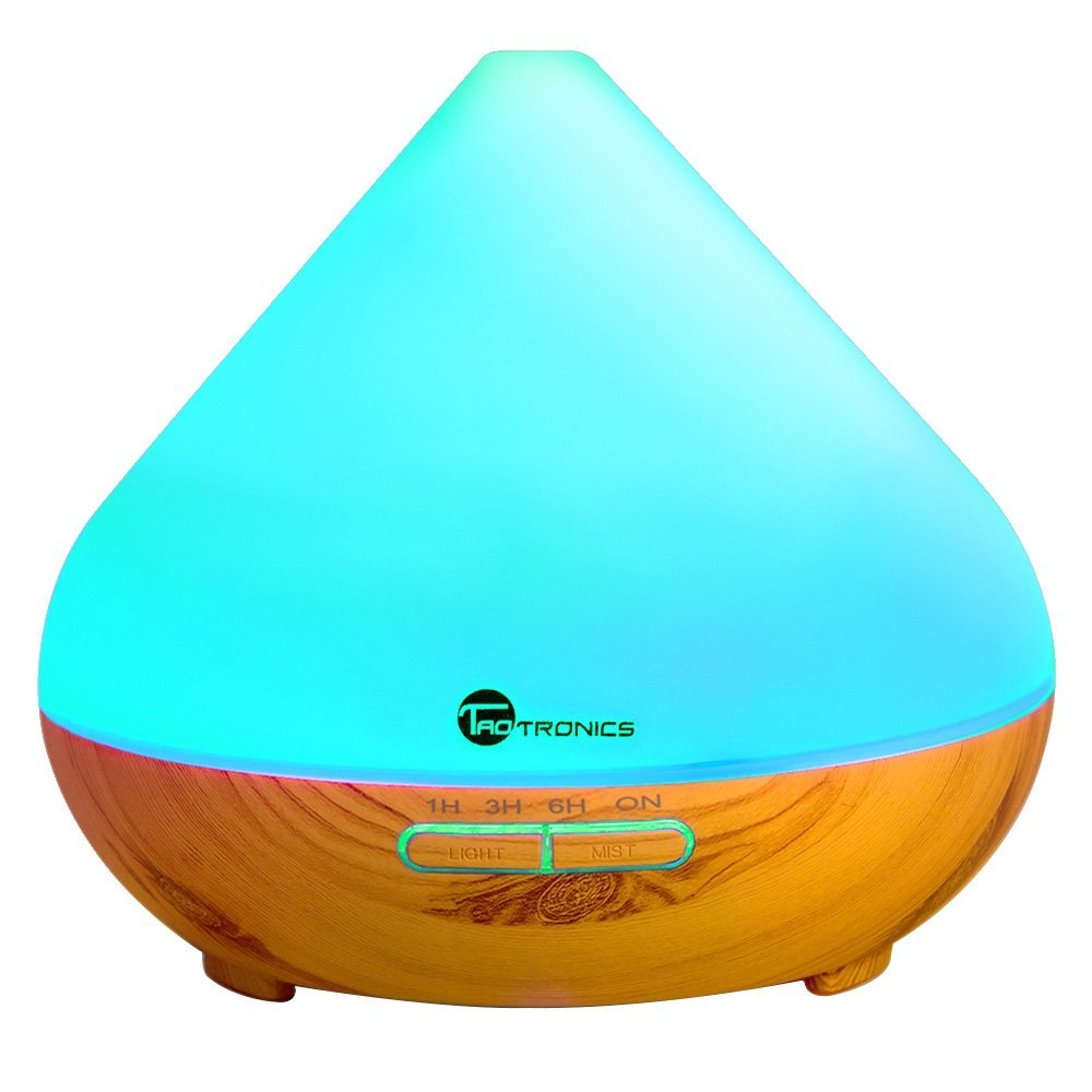 Amazon.com: Wood Grain 300 ml Essential Oil Diffuser with LED Nightlight just $20.99!