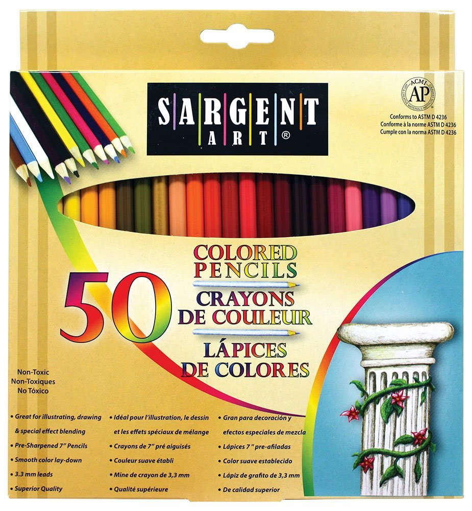 Amazon.com: Sargent Art Premium Coloring Pencils (50 pack) only $5.26!