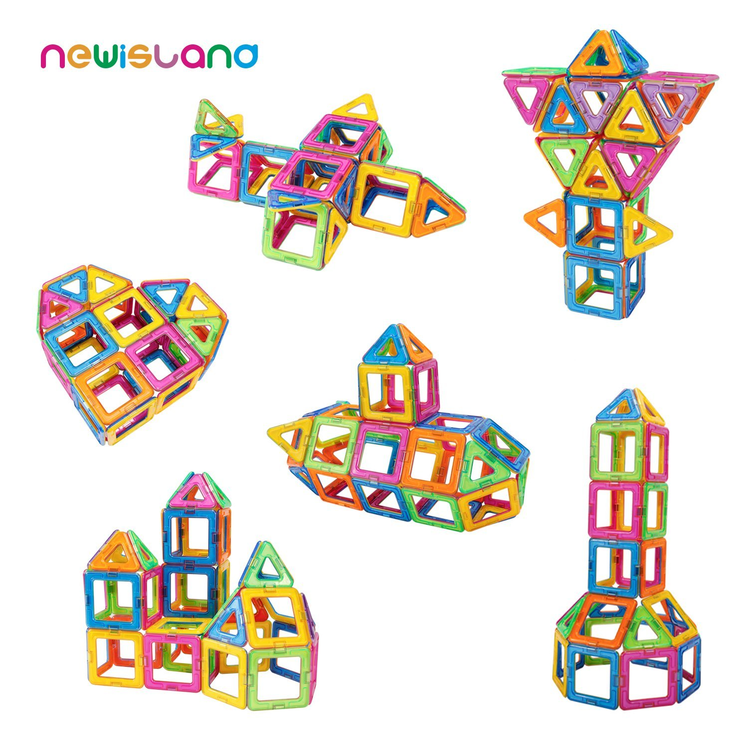 Amazon.com: Newisland 40-Pcs Magnetic Blocks Set plus Carrying Bag just $16.99!