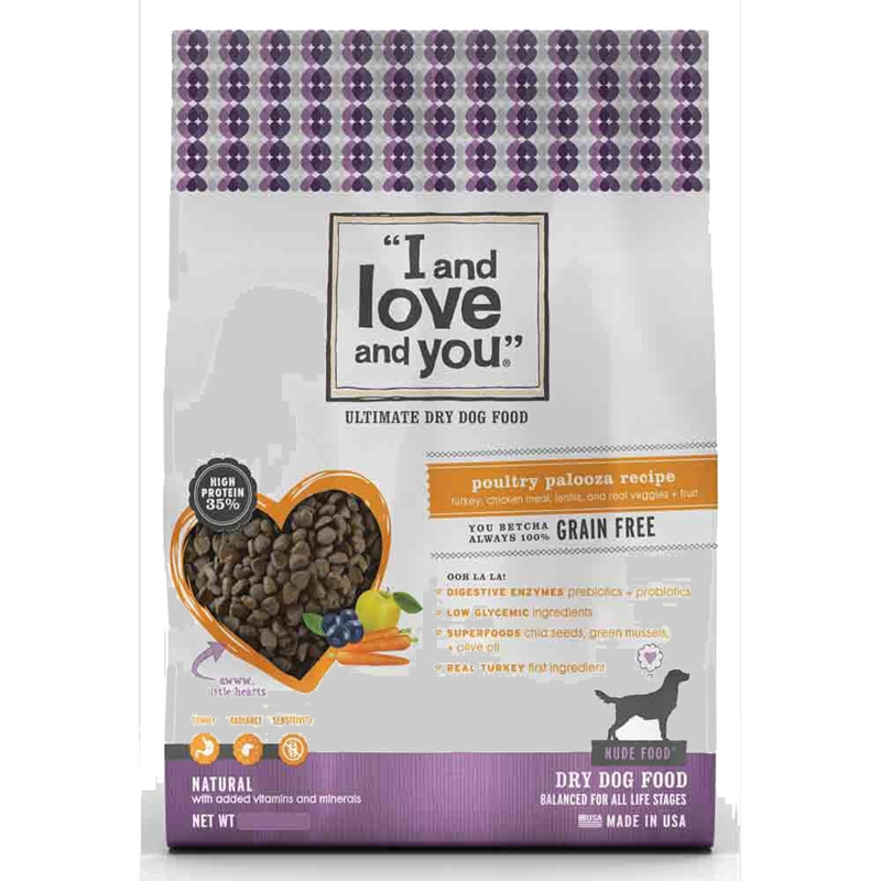 Free I and Love and You Dog Treats or Kibble sample