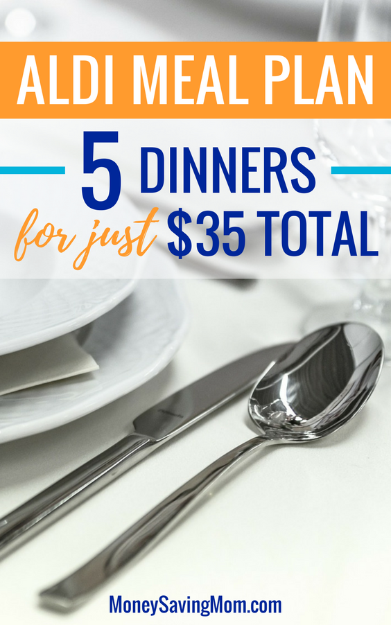 This ALDI Meal Plan is SO easy and really budget-friendly! Make 5 dinners for just $35 total!!