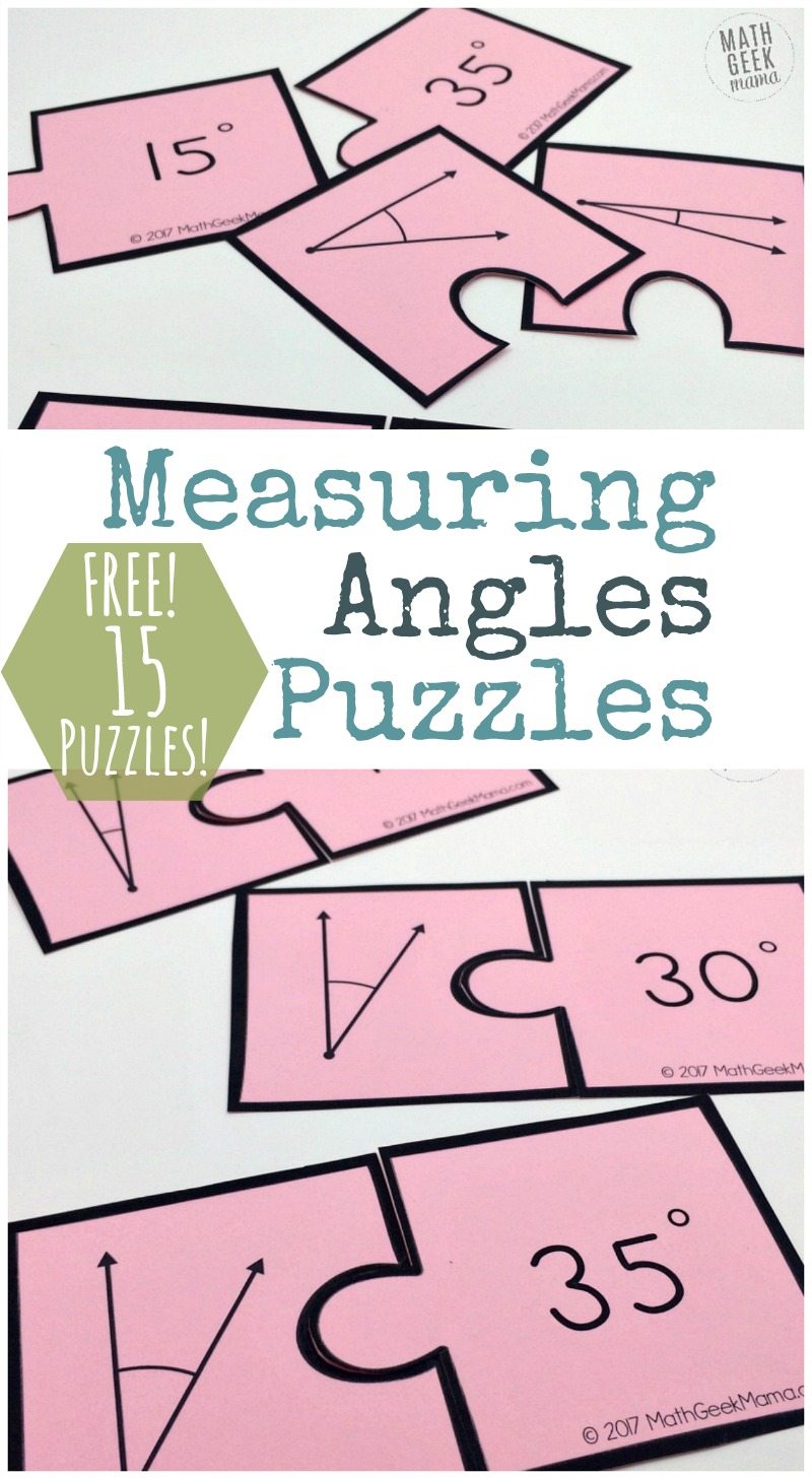 image regarding Printable Measuring known as Absolutely free Printable Measuring Angles Puzzles - Monetary Conserving Mother