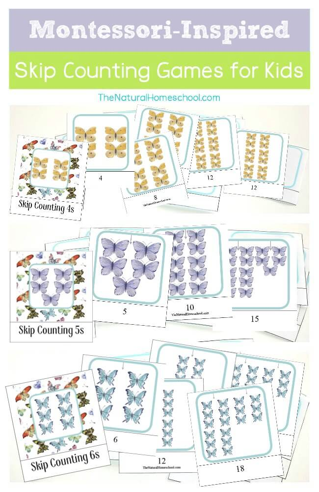 Free Printable Montessori-Inspired Skip Counting Games for Kids