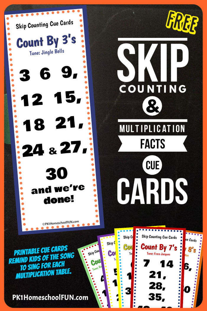 Free Printable Skip Counting Cue Cards