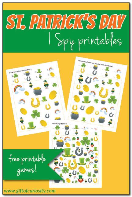 Free St. Patrick's Day I Spy Printables