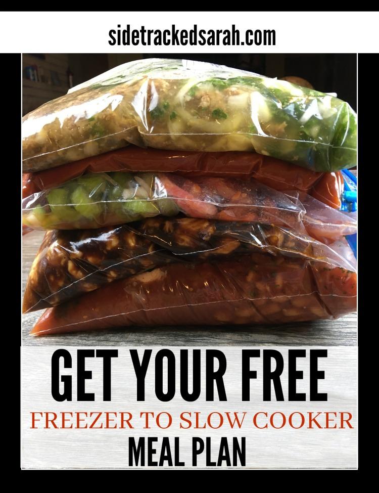 Free Printable Freezer to Slow Cooker Menu Plan