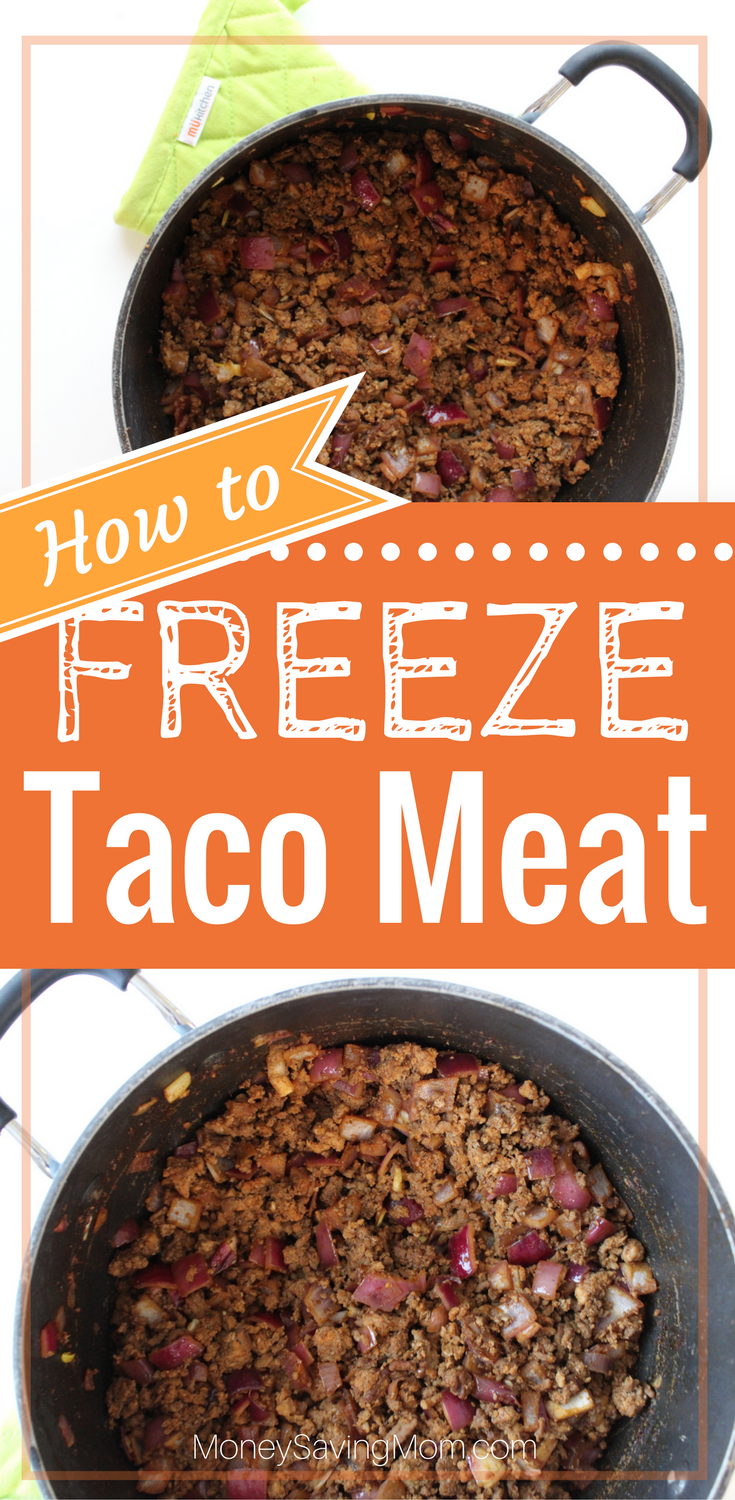 One great staple item to keep in your freezer is Taco Meat! You can use it in so many different recipes and it thaws really quickly so it makes for a great last-minute dinner idea