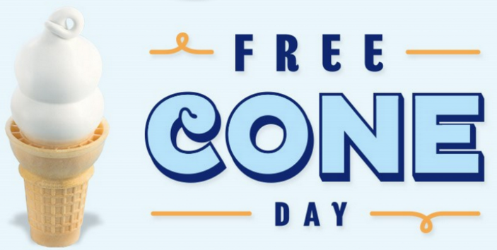 Dairy Queen: Free vanilla ice cream cone on March 20, 2018
