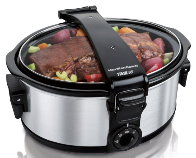 Amazon.com: Hamilton Beach Stay or Go 6-Quart Portable Slow Cooker for just $22.09!