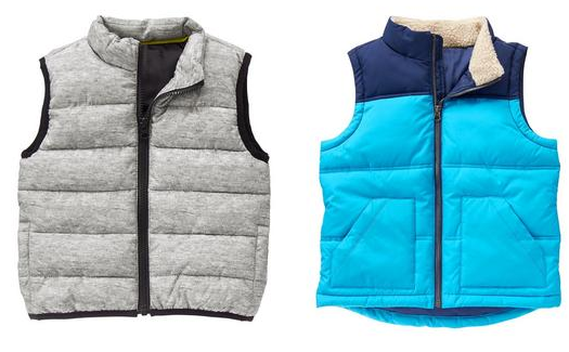 Crazy 8: Get kids' puffer vests for as low as $7.19 shipped!