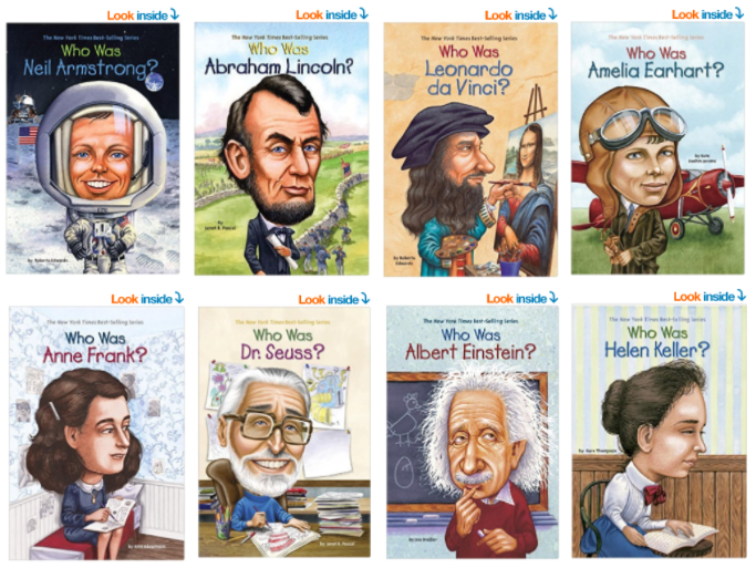 "Get the educational ""Who Was"" paperback books starting as low as $2.49 each!"