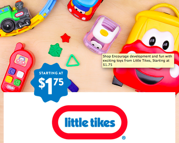 Hollar: Get Little Tikes Toys as low as $1.75!