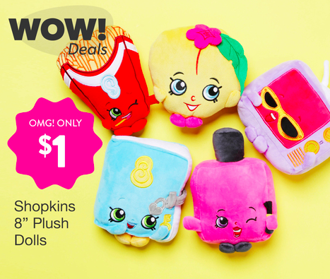 "Hollar: Get Shopkins 8"" Plush Toys for only $1, Disney Movies digital downloads for only $1, plus more!"