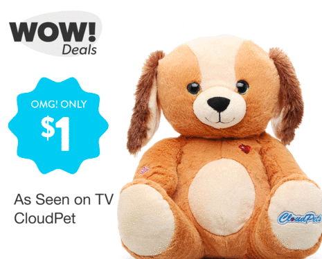 Hollar: Get As Seen on TV CloudPets for just $1!