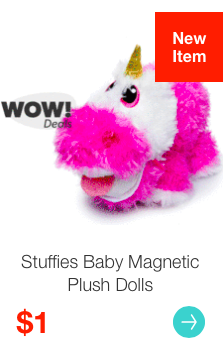 Hollar: Get Stuffies Baby Magnetic Plush Dolls for just $1!