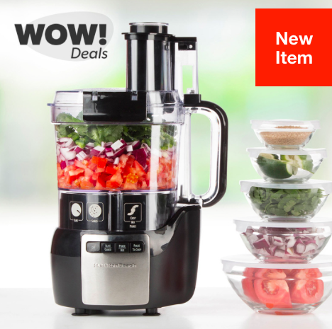 Hollar: Hamilton Beach Stack & Snap 10-Cup Food Processor & Glass Bowl Bundle just $19.95!
