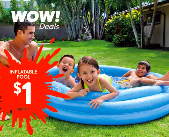 Hollar: Inflatable Pool just $1!