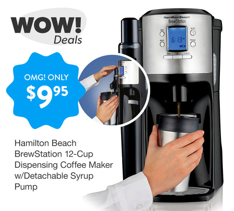 Get a Hamilton Beach 12-Cup Coffee Maker for just $9.95!