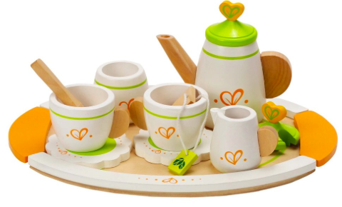 Hape Tea for Two Wooden Play Kitchen Accessory Kit