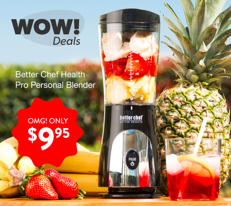 Get a Better Chef Health Pro Personal Blender for just $9.95!
