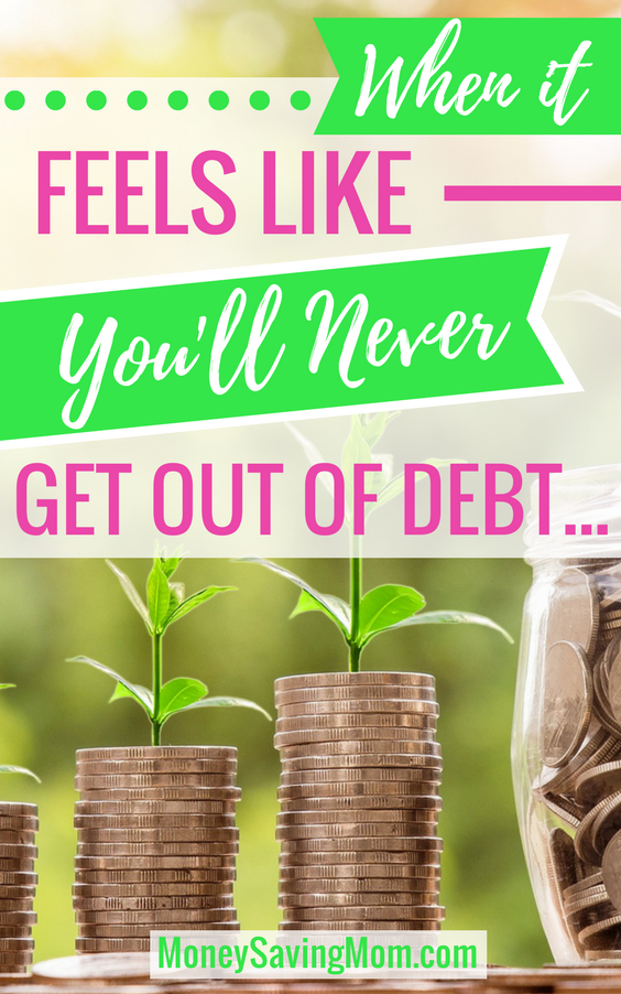 Feel like you'll never get out of debt? Read this inspiring post full of hope and practical tips!