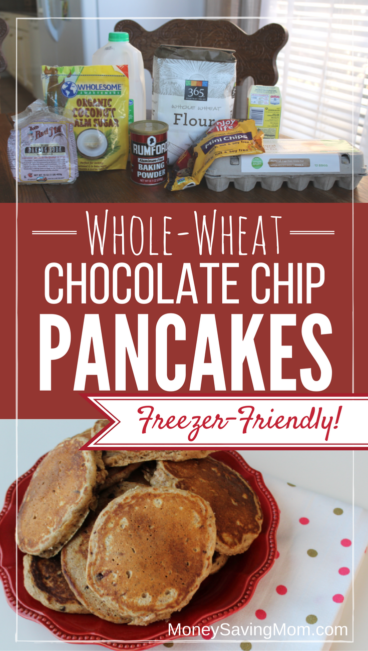 whole wheat chocolate chip pancakes this recipe is a