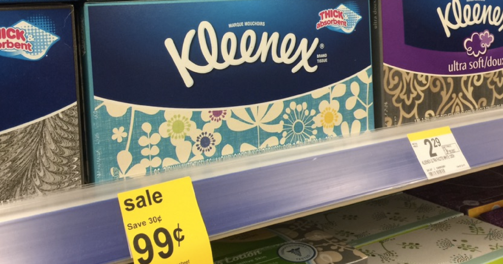 Walgreens: Kleenex Tissues for just $0.19 per box!