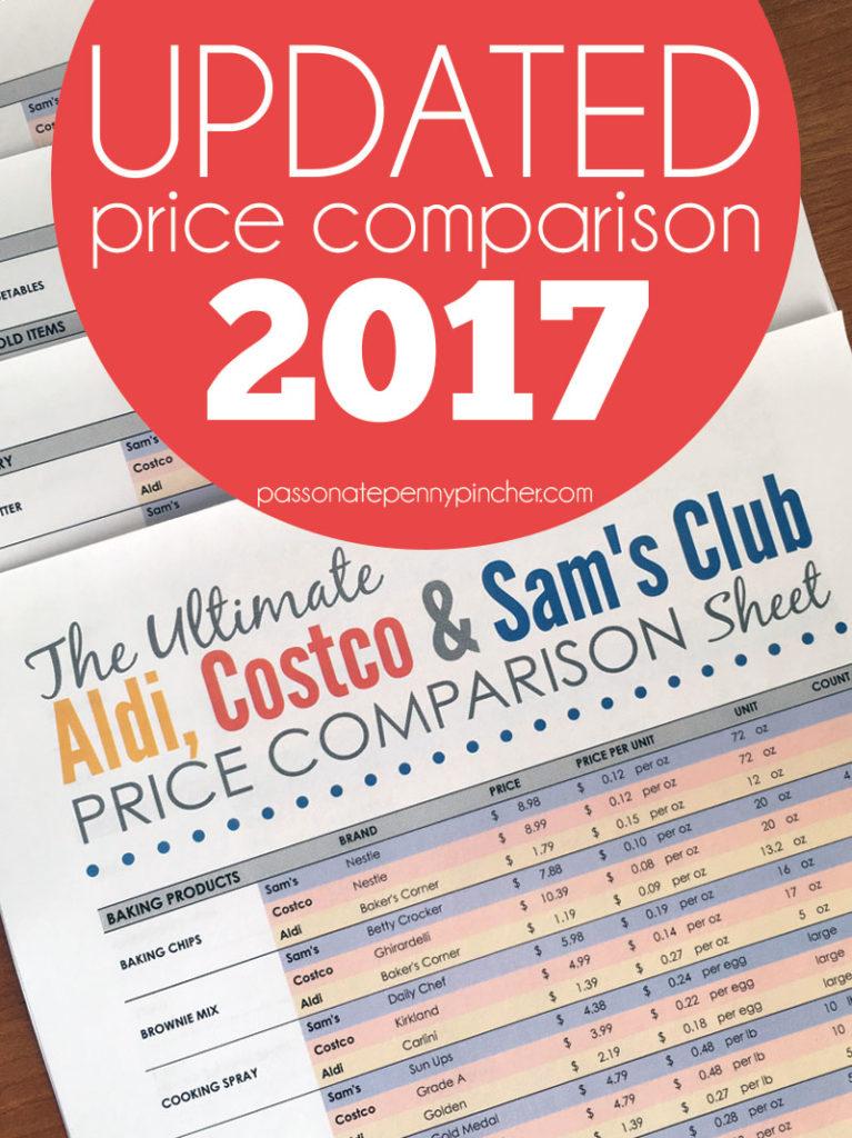 The Ultimate Aldi, Costco & Sam's Club Price Comparison Chart (Updated!)