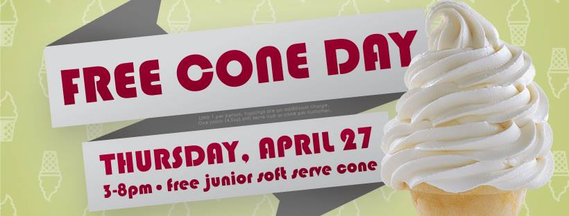 Carvel Ice Cream: Free Junior Cone on April 27, 2017!