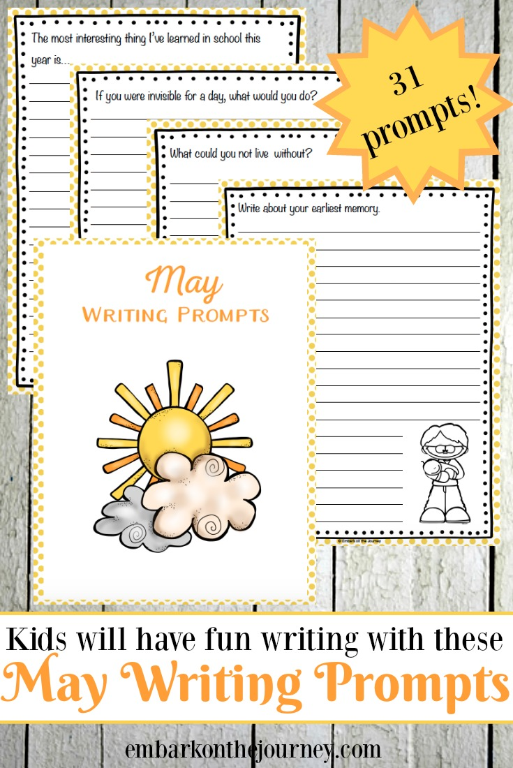 31 Free Printable Elementary May Writing Prompts