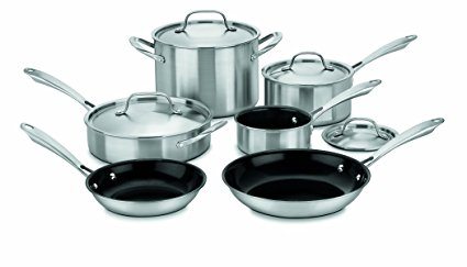 Amazon.com: Cuisinart GreenGourmet Tri-Ply Stainless 10-Piece Cookware Set just $105.99!