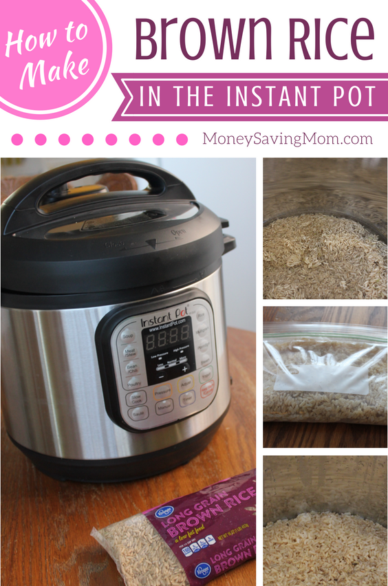 Scared to try your Instant Pot for the first time? Try this easy Brown Rice recipe -- perfect for beginners!