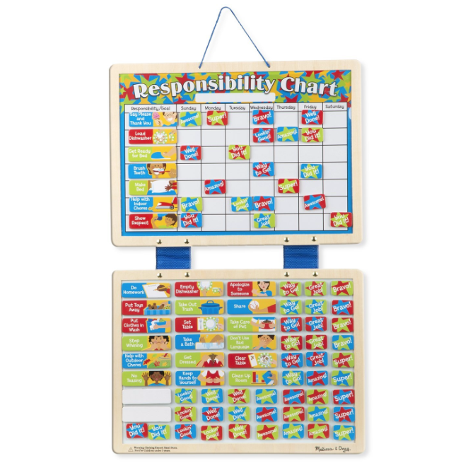 Amazon.com: Melissa & Doug Magnetic Responsibility Chart for just $9.91!