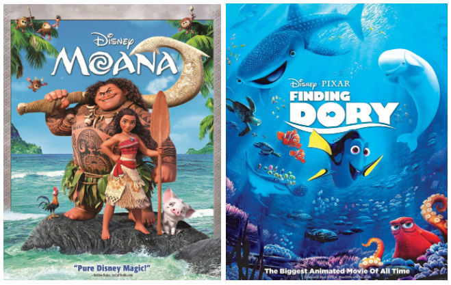 Hollar: Get Moana or Finding Dory for just $5 each!