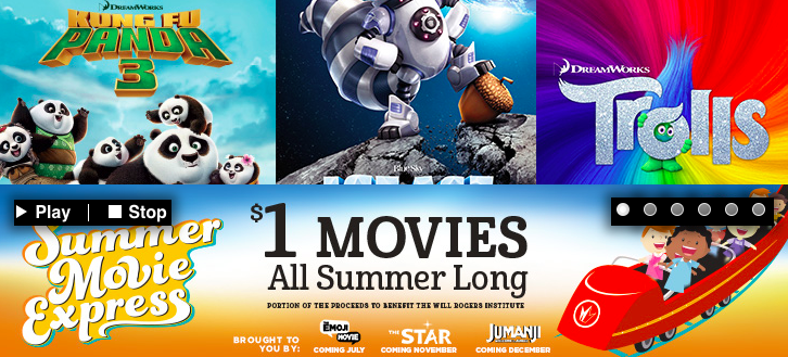 Kid's Summer Movies as low as $0 50 (Regal and Cinemark Theaters