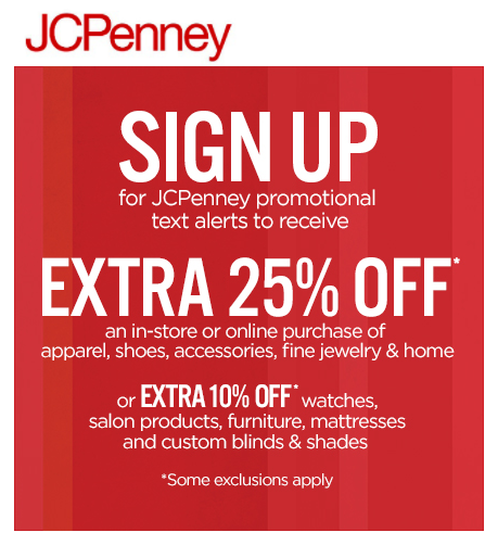 91eb230d7 HOT  JCPenney Coupon  Get 25% off your entire purchase! - Money ...