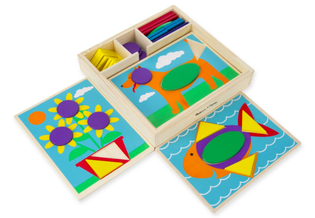 Amazon.com: Melissa & Doug Beginner Wooden Pattern Blocks Educational Toy just $9.42!