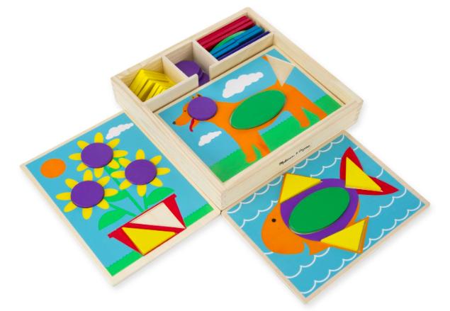 Amazon.com: Melissa & Doug Beginner Wooden Pattern Blocks Educational Toy just $9.42!