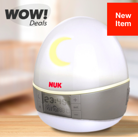 Hollar: NUK Natural Sleep System 2-in-1 Light & Sound Machine just $9.95!