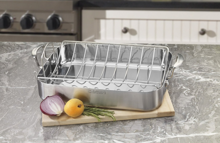 Amazon.com: Cuisinart Stainless Steel Rectangular Roaster for just $47.40 shipped!