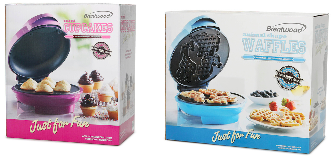 Hollar: Brentwood Cake Pop, Animal Waffle, Mini Donut or Mini Cupcake Maker just $9.95!