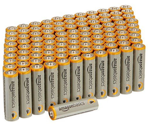 Amazon.com: AmazonBasics AA Batteries, 100-Count for just $14.39!